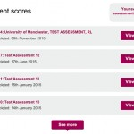 Learners can keep track of all their assessment scores