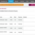 A complete set of authoring tools including detailed drug scoring